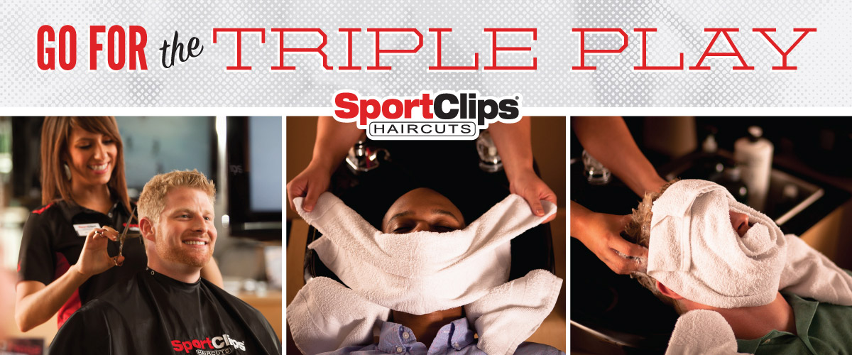 The Sport Clips Haircuts of The Market at Park North Triple Play